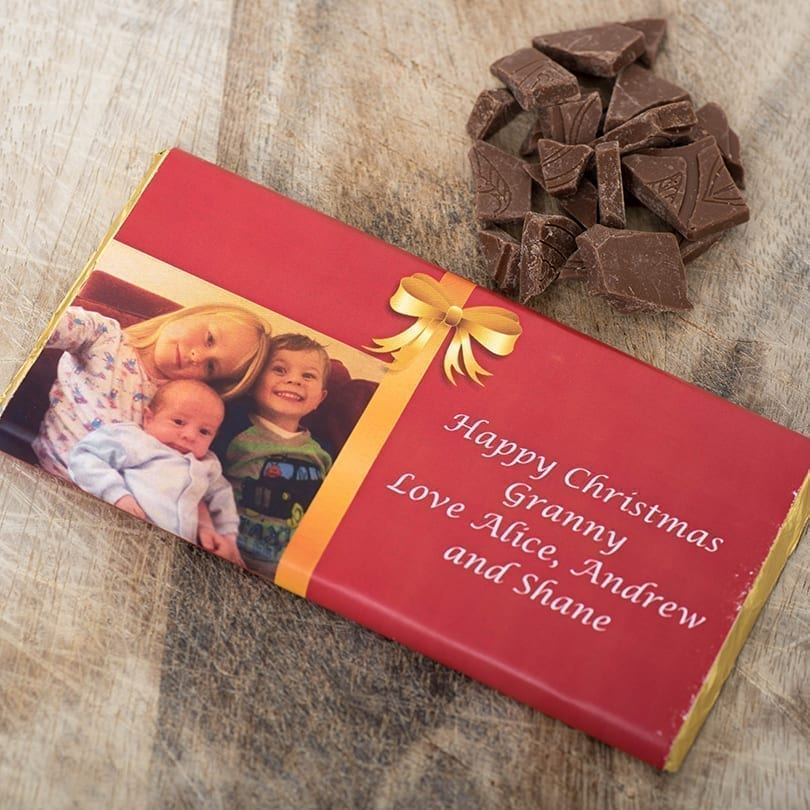 Christmas Bar With Photo - Personalised Chocolates