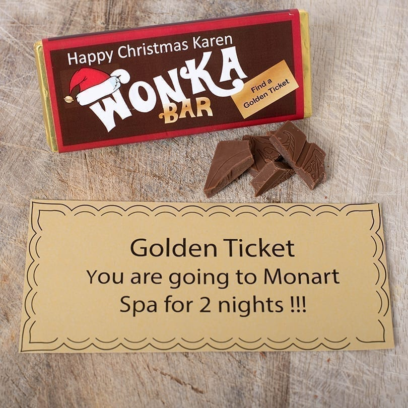 Christmas Wonka Bar - Personalised Chocolates