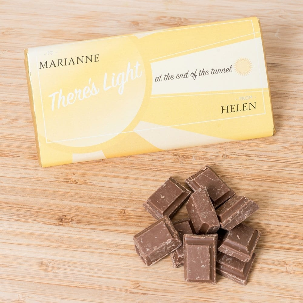 Light At The End Of The Tunnel - Say Hello Personalised Chocolates