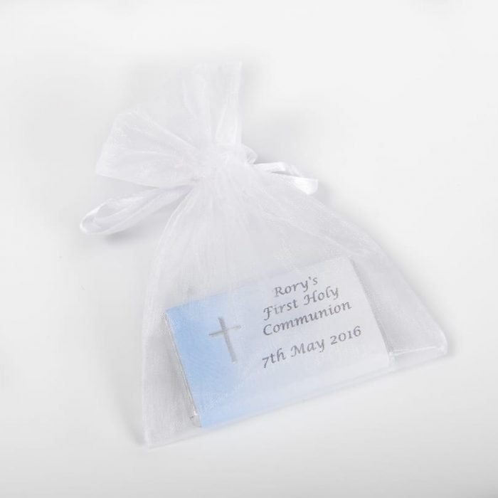 Chocolate Bar with Embellishment in Organza Bag