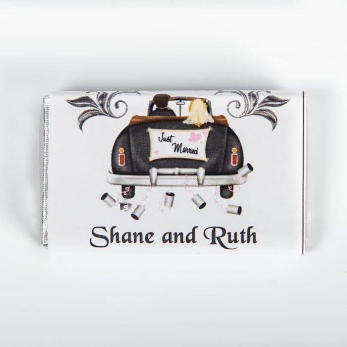 Just Married Car Design Chocolate Bar