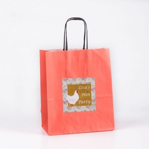 Vintage Hen Design Personalised Gift Bag