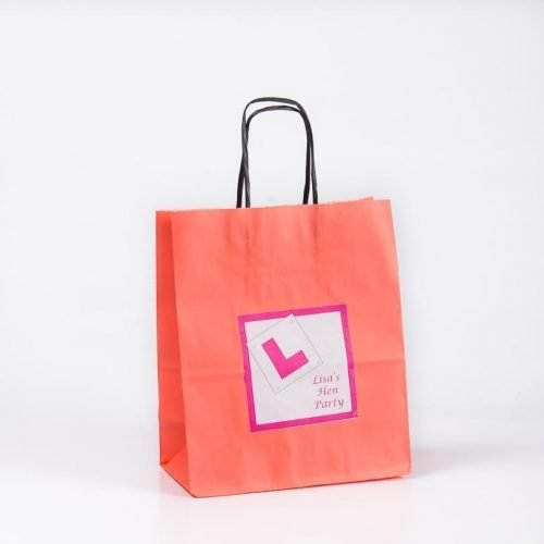 L Plate Design Personalised Gift Bag
