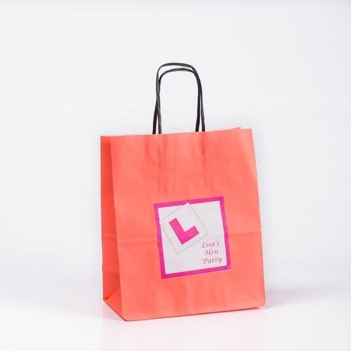 L Plate Design Personalised Gift Bag