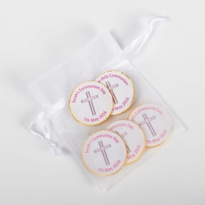 Personalised Chocolate Coins In Bag - Marias Little Wrappers