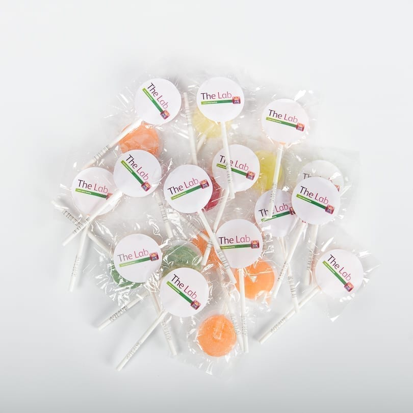 Branded Promotional Lollipops | Personalised Lollipops - Personalised Chocolates