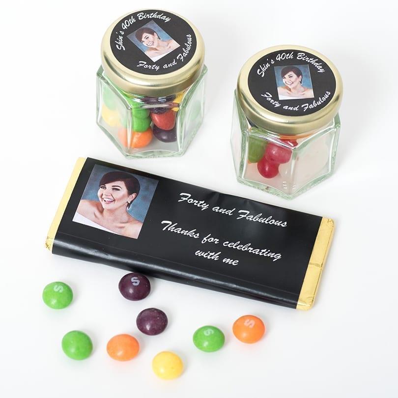 Birthday Bars And Mini Jars - Personalised Chocolates