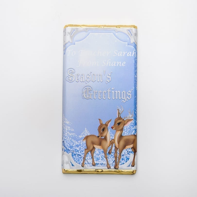 Rudolph Design Chocolate Bar - Personalised Chocolates