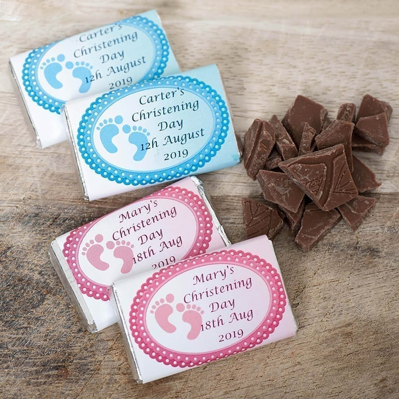 Small Chocolate Bars With Footprints - Personalised Chocolates