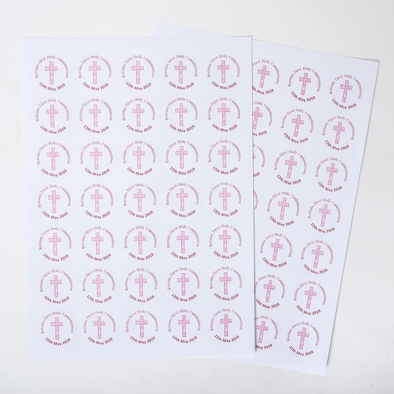 Sheet Of Circular Stickers - Personalised Chocolates
