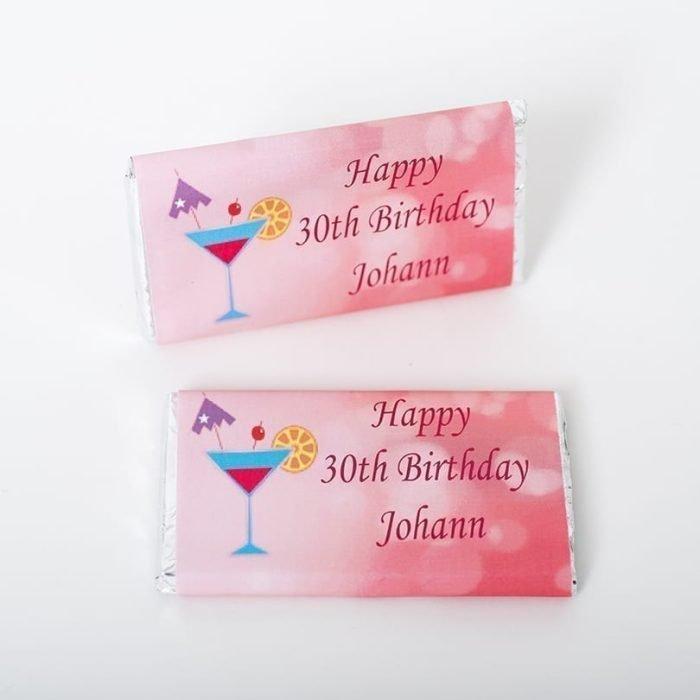 Personalised Birthday Bar Cocktail - Personalised Chocolates