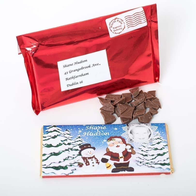 Santa Letter Bar - Personalised Chocolates