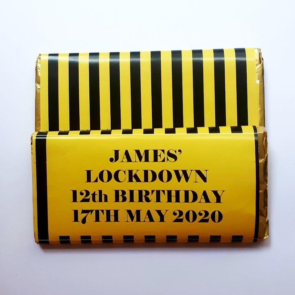 Lock Down Personalised Birthday Chocolate Bar
