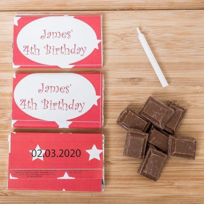Birthday Stars | Birthday Chocolates - Personalised Chocolates