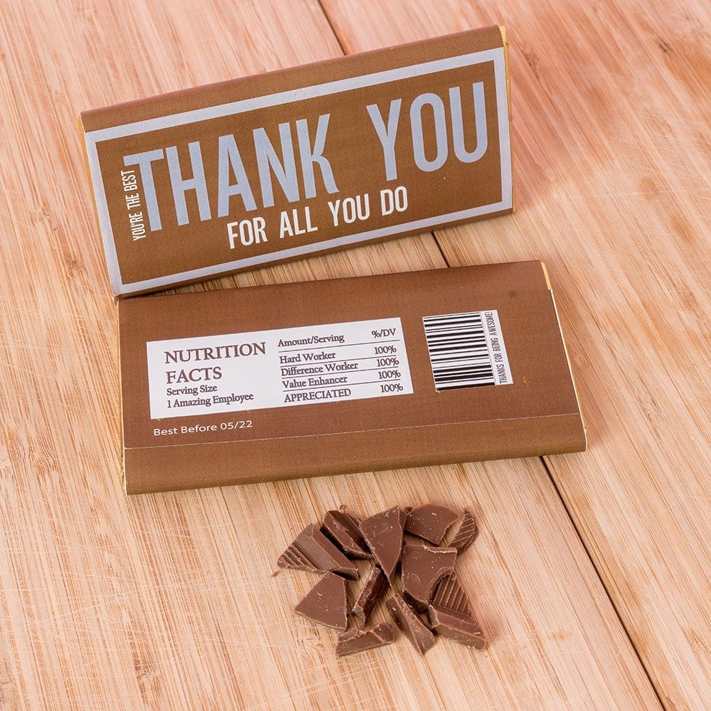 Employee Thank You Personalised Chocolates