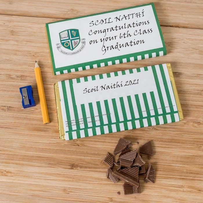 Personalised Graduation Chocolate With Crest 2 - Personalised Chocolates - Personalised Chocolates