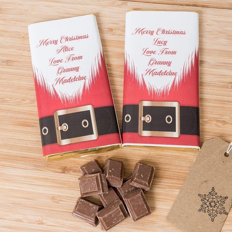 Santa Suit Bar - Personalised Chocolates