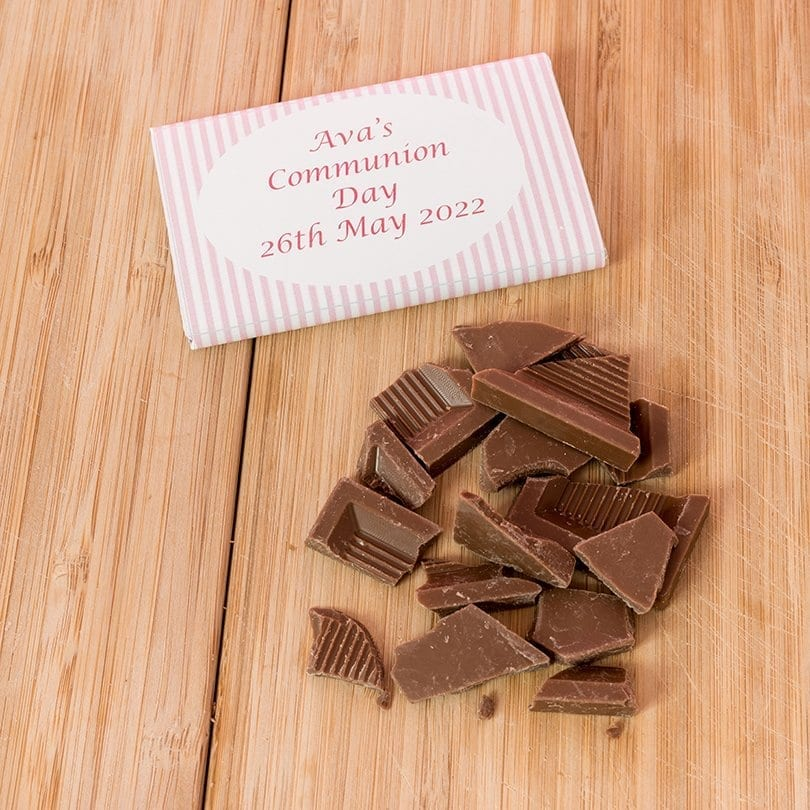Striped Communion Bars - Personalised Chocolates